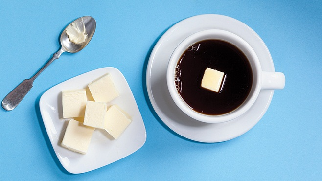 Coffee and butter. Photograph by Maya Visnyei.