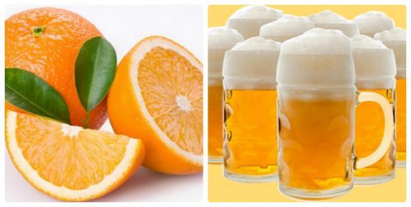 tắm trắng làn da bằng bia với nước cam hiệu quả